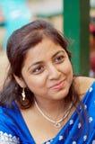 härlig indisk kvinna Royaltyfri Fotografi