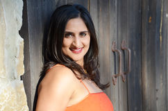 härlig indisk kvinna Fotografering för Bildbyråer