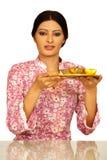 härlig indisk lady Arkivbilder