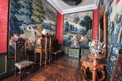 Härlig inre av den danska slotten Royaltyfria Foton