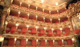 Härlig inre av den tyska operan Arkivfoto