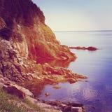 Härlig instagram av den sceniska kustlinjen Royaltyfri Bild
