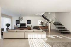 härlig interior för lägenhet arkivfoto