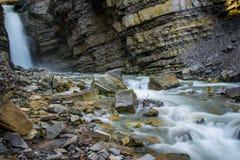 Härlig italiensk vattenfall Arkivbild