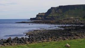 Härlig jättevägbankkust i nordligt - Irland stock video