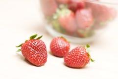 härlig jordgubbe Royaltyfria Bilder