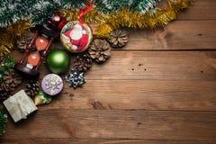 härlig jul för bakgrund övre sikt arkivbild