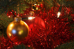 härlig jul för baubles Arkivbild