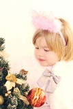härlig julfe little Arkivbild