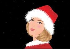 härlig julflicka Arkivbild