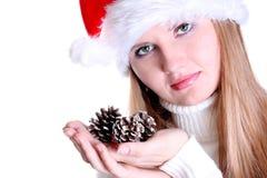 härlig julflicka Arkivbilder