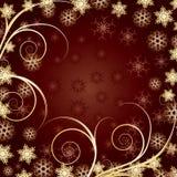 härlig julguld för bakgrund Arkivfoto