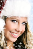 härlig julkvinna Royaltyfri Fotografi