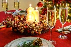 härlig jultabell Arkivfoto