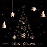 Härlig jultree Royaltyfri Illustrationer