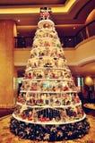 härlig jultree Arkivbild
