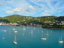 Härlig jungfrulig ö i det karibiskt Fotografering för Bildbyråer