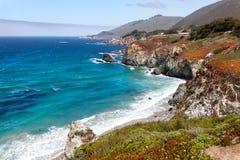 härlig Kalifornien kust royaltyfri fotografi