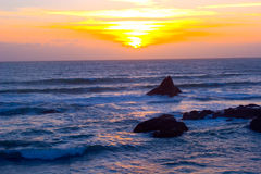 härlig Kalifornien solnedgång Arkivfoto