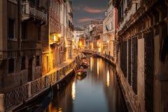 Härlig kanal i Venedig Royaltyfri Bild