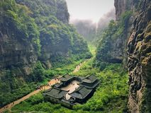 Härlig kanjon i porslin royaltyfri foto