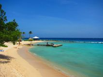 Härlig karibisk strandsemesterort Curacao Royaltyfria Bilder