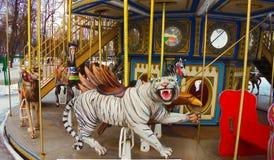 härlig karusell Royaltyfri Fotografi