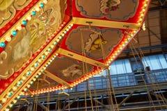 Härlig karusell på funfair royaltyfri fotografi