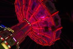 Härlig karusell på Oktoberfesten i Munich Royaltyfria Bilder