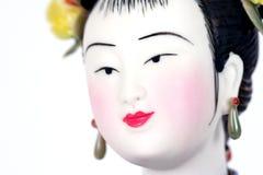 härlig kinesisk closeupfigurine Arkivfoto