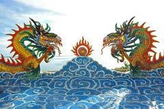 härlig kinesisk drake Arkivbild