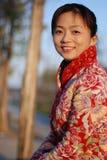 härlig kinesisk kvinna Arkivbild