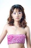 härlig kinesisk modell Royaltyfria Bilder