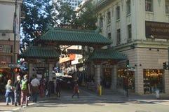 Härlig kineskvarter i San Francisco Loppet semestrar arkitektur arkivfoton