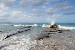 Härlig Kirra strand Arkivbilder