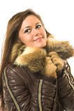 härlig kläderflickavinter Royaltyfria Foton