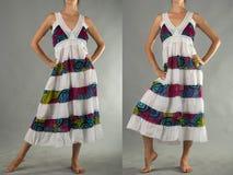 Härlig klänning med den orientaliska prydnaden Royaltyfri Foto