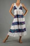 Härlig klänning med den orientaliska prydnaden Arkivbilder