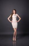 härlig klänningaftonflicka Arkivfoton