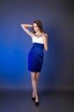 härlig klänningaftonflicka Royaltyfria Bilder