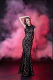 härlig klänningaftonflicka Fotografering för Bildbyråer