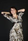 härlig klänningflicka arkivbilder