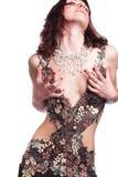 härlig klänningflicka Arkivbild