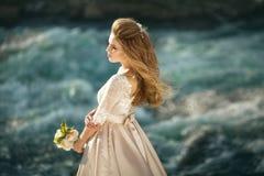 härlig klänningflicka royaltyfri fotografi