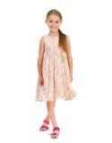 härlig klänningflicka little Arkivfoton