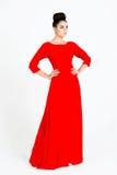 härlig klänningkvinna Royaltyfri Bild