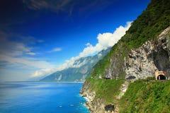 Härlig klippa i Hualien, Taiwan arkivbild