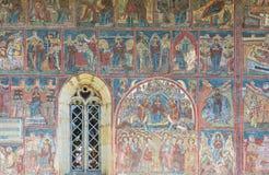 Härlig kloster i Rumänien Arkivbild