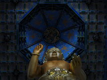 Härlig kloster nära Dali, Yunnan Royaltyfria Bilder