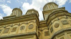 härlig kloster romania för arges Arkivfoto